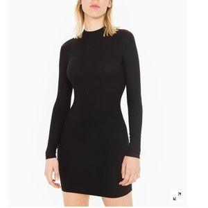 American Apparel ribbed mock neck body con dress